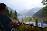 Uitzicht wildkampeerplek Retezat